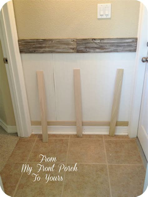 Affordable Wainscoting From My Front Porch To Yours Inexpensive Diy Wainscoting