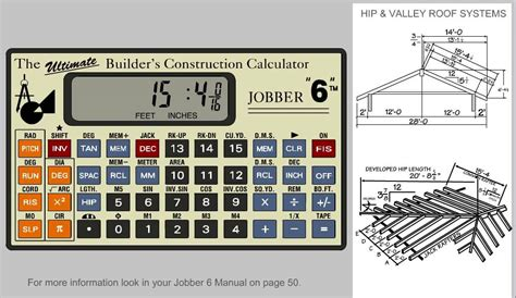 Roof Construction Calculator Jobber 6 Construction Calculator Solving Hip And Valley