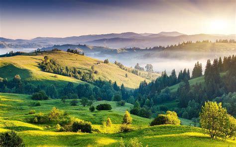 charakter gorski krajobraz las mgla jezioro ultrahd