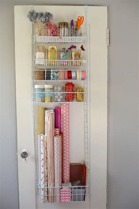 The Door Wrapping Paper Organizer by Gift Wrap Organizing Ideas Projects Decorating Your