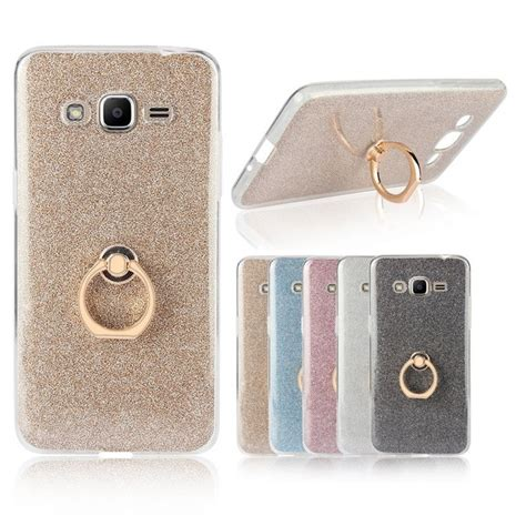 Softcase Pasir Gliter Metalik Samsung J2 for samsung galaxy j2 prime transparent soft tpu glitter metal ring back cover for