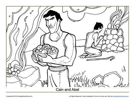 cain and abel coloring page children s bible activities