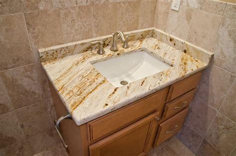 s gold granite bathroom vanity traditional