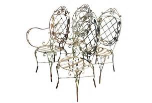 vintage wrought iron patio chairs omero home