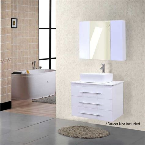 Bathroom Vanities Portland Or Design Element 30 Quot Portland Single Vessel Bathroom Vanity White Dec071d W J Keats
