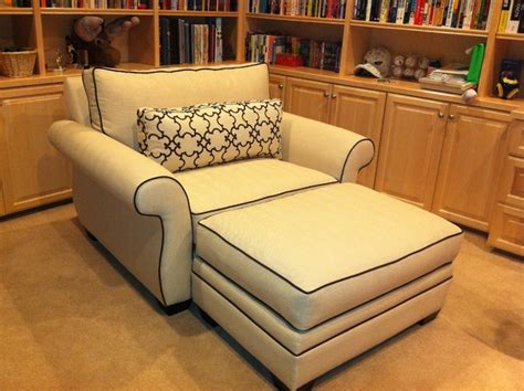 oversized loveseat with ottoman republic chair and a half and ottoman traditional