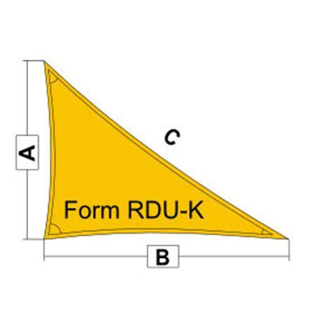 sonnensegel rechtwinkliges dreieck sonnensegel form und stoff