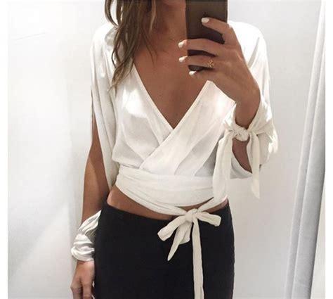 Top Fonny Blouse plunge front blouse smart casual blouse