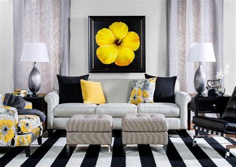 black  yellow living room contemporary living room