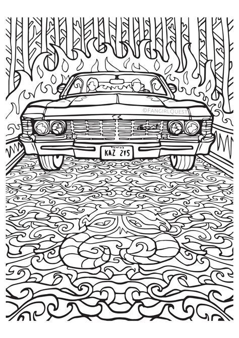 Supernatural coloring images: Impala '67 / Baby ? Fangirl