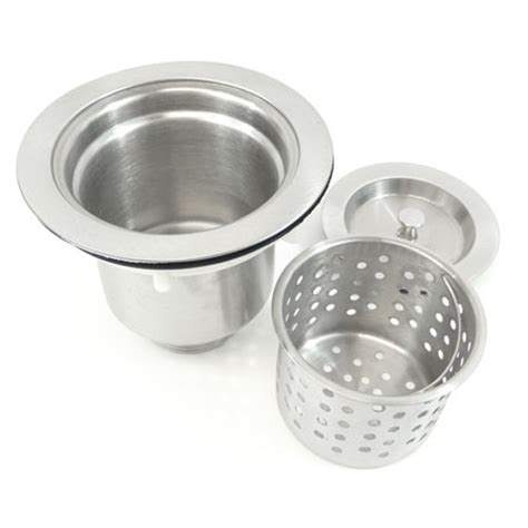 kitchen bar sink basket strainer with lift out basket