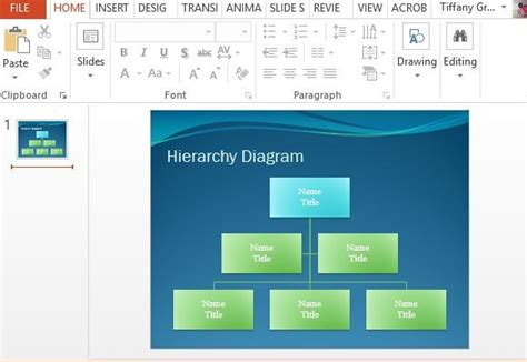 Hierarchy Diagram Powerpoint Template Powerpoint Hierarchy Template