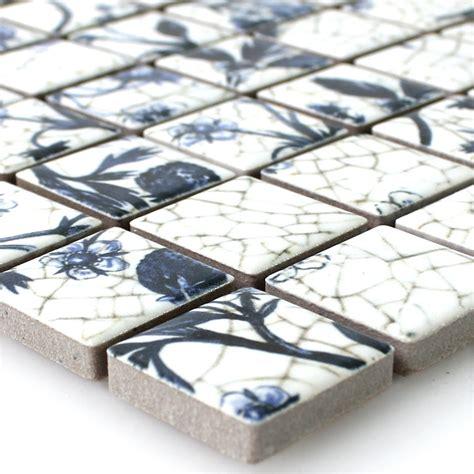 fliesen keramik keramik mosaik fliesen strawberry weiss blau tm33350