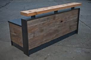 Reclaimed Wood Reception Desk Reclaimed Reception Desk