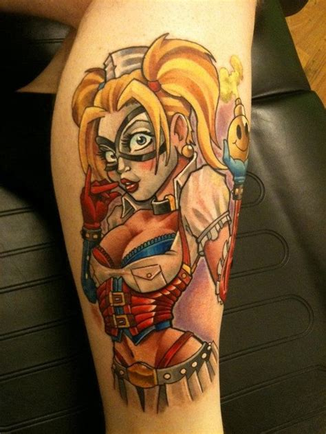 tattoo designs pin up harley quinn nerdy