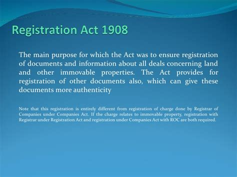 section 17 registration act registration and st duty