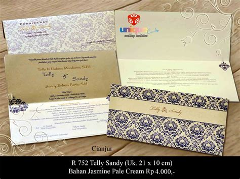 Undangan Pernikahan Sakral 221 telly unique card wedding invitation media