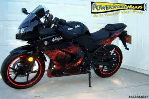 Blog of autorizm kawasaki ninja 250 custom with flame stickers