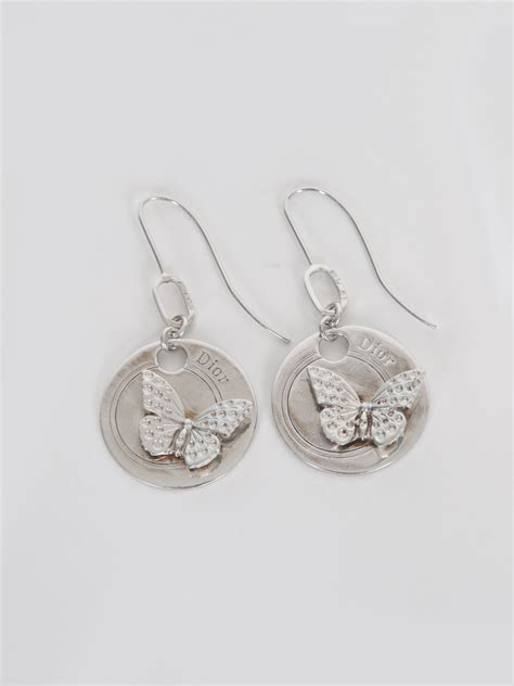 Plate Earrings butterfly plate silver earrings luxury bags