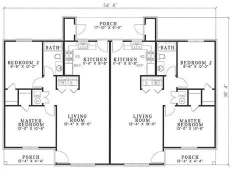 Multi Unit House Plans by Traditional Multi Unit House Plans Home Design 3820