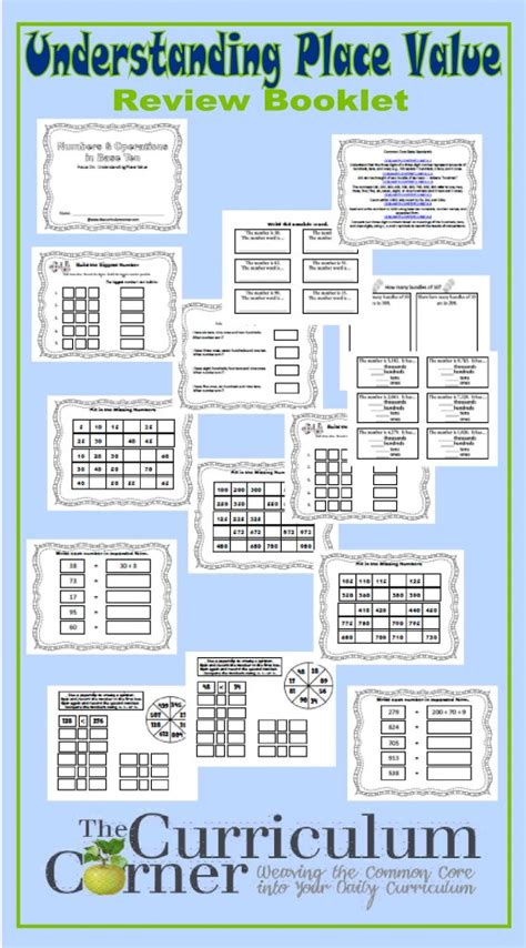 A Place 123 Place Value Booklet 2nd Grade The Curriculum Corner 123