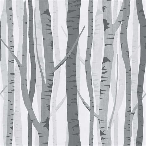 Grey Wallpaper With Trees | wilko trees wallpaper black grey wp332118 at wilko com