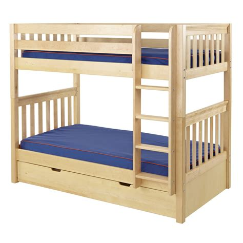 bunk bed slats get it mid size bunk bed in natural with slat bed ends by