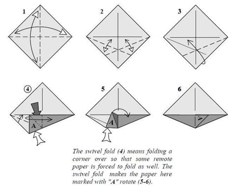 What Is Paper Folding Called - origami mid intermediate folds