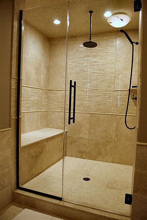 built in shower contemporary master bathroom neutral travertine tile