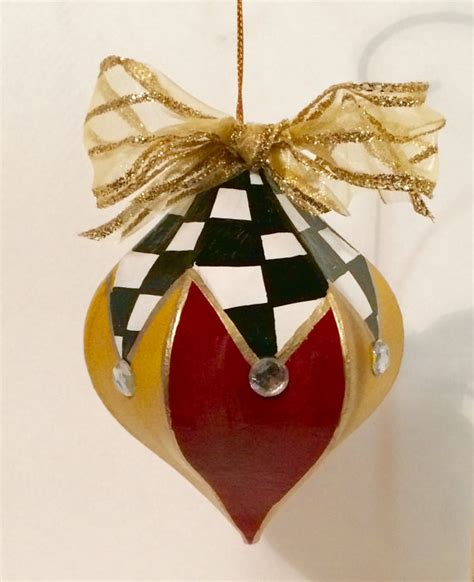 christmas tree ornament painted ornament whimsical
