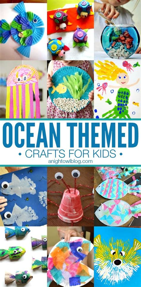 10 awesome beach themed projects for a vacation like feel ocean themed crafts for kids summer for kids and summer