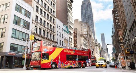 nyc sightseeing tours by boat downtown tour hop on hop off double decker gray line