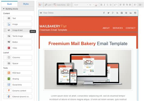 email template editor 9 best html email template editors in email marketing