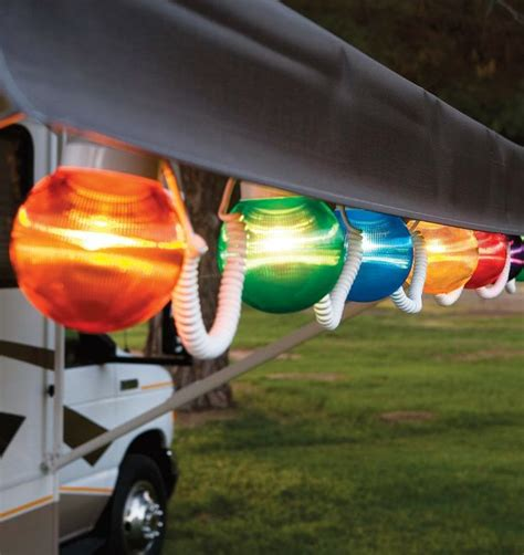 outdoor lights for rv awning rv awning globe light multi color 6 pack
