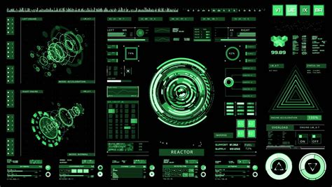 wallpaper engine flickering futuristic interface digital screen ultra detailed