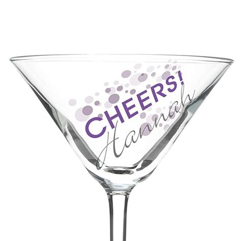martini glass cheers personalised cheers cocktail glass by hope and willow