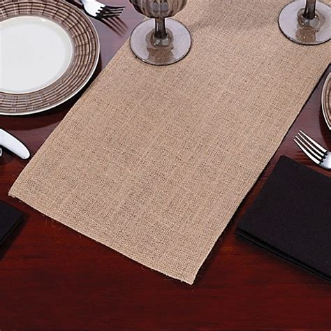 84 inch table runner buy lillian 84 inch burlap table runner from bed