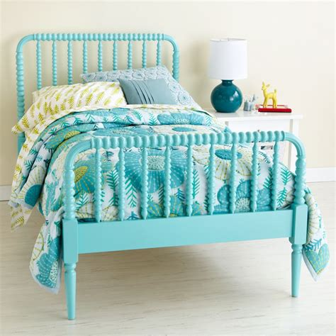 turquoise bed frame jenny lind kids furniture collection the land of nod