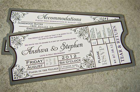 Hochzeitseinladung Eintrittskarte by Loved Our Wedding Invitations Shaped Like Tickets