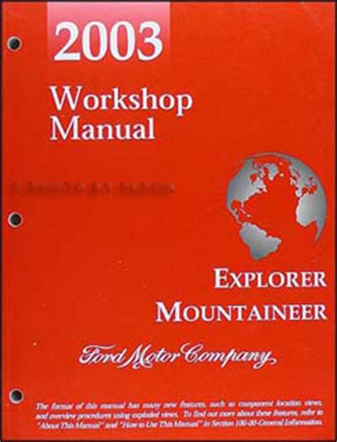 2003 ford f 150 repair shop manual original 2 volume set 2003 ford explorer 4 door mercury mountaineer repair shop manual original