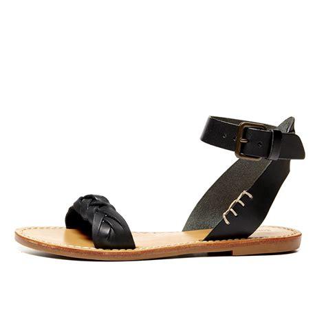 black ankle sandal lyst soludos leather braided ankle sandal in black
