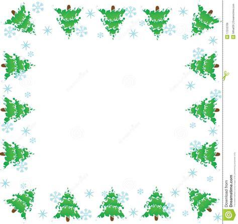 cornice natalizia photoshop cornice alberi di natale illustrazione di stock