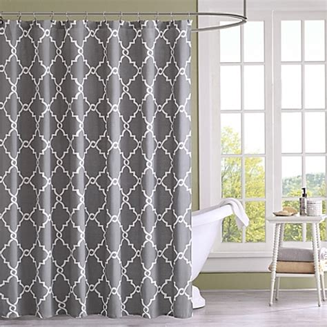 bed bath and beyond saratoga buy madison park saratoga printed shower curtain in grey
