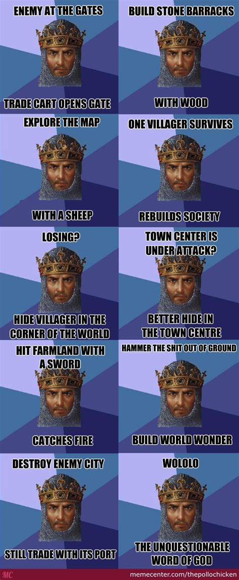 Age Of Empires Meme - age of empires and its unquestionable logic by