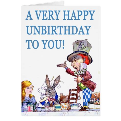 printable unbirthday card a very happy unbirthday to you greeting card zazzle