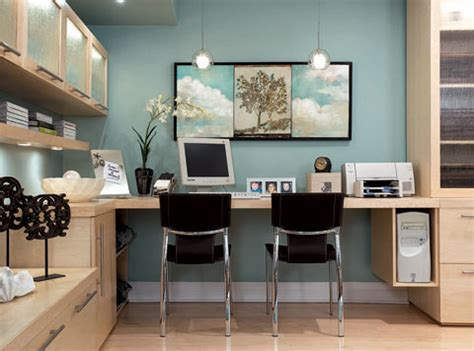 built in desk contemporary den library office brandon barre photography