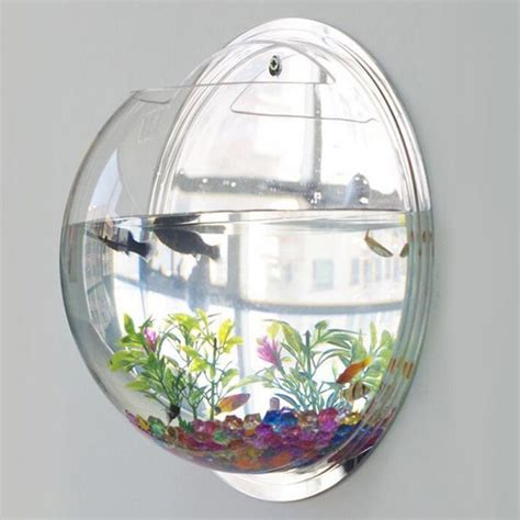 Acrylic Fish Bowl Vase by Creative Acrylic Hanging Wall Mount Fish Tank Bowl Vase