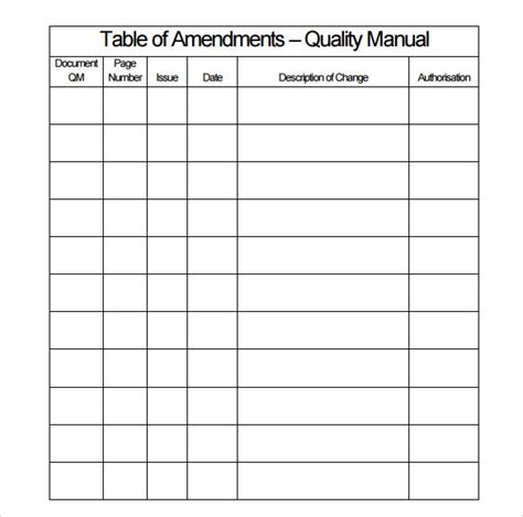 quality manual template 8 download free documents in