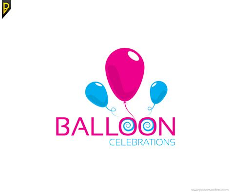layout with logo logo design for balloon celebrations by poisonvectors