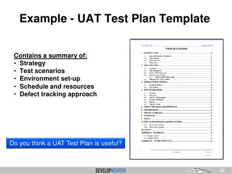 approach template overview of user acceptance testing uat for business